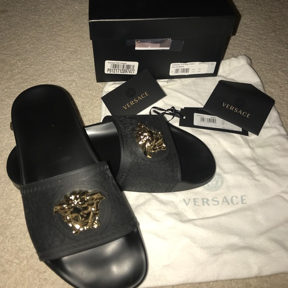 baroque slides - Black Versace oVGIvR